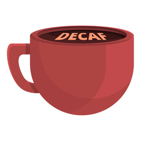 Decaf cup icon, cartoon style