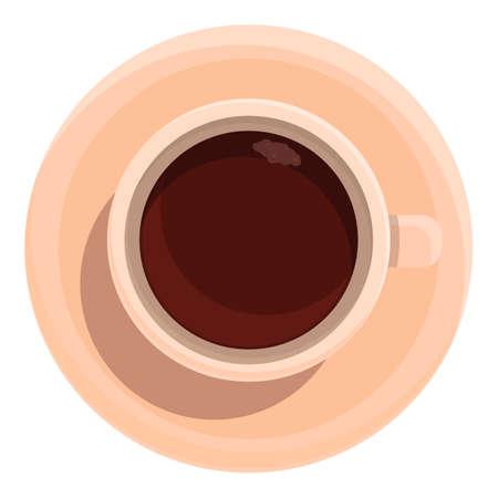 Coffee drink serve icon, cartoon style