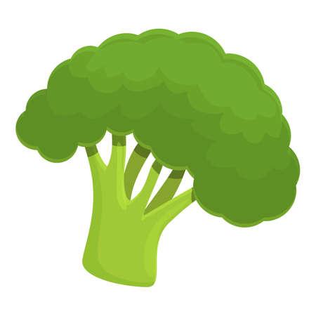 Fresh broccoli icon, cartoon style