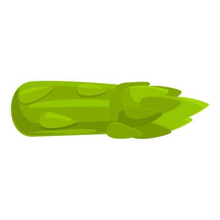 Harvest asparagus icon, cartoon style