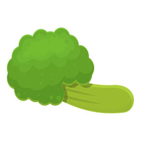 Diet broccoli icon, cartoon style