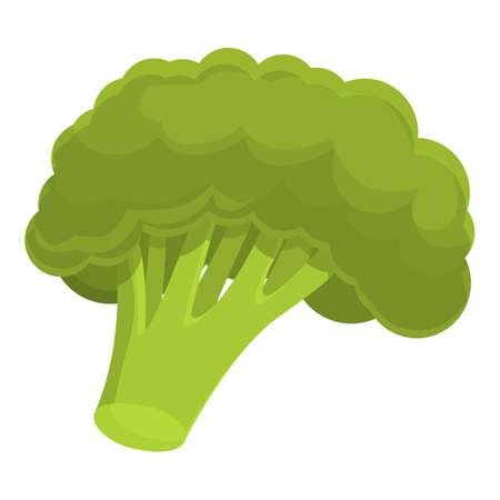 Broccoli plant icon, cartoon style