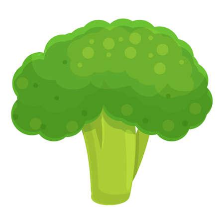Raw broccoli icon, cartoon style