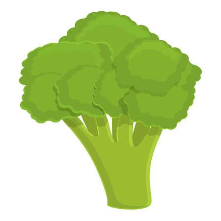 Food broccoli icon, cartoon style