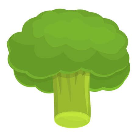 Salad broccoli icon, cartoon style
