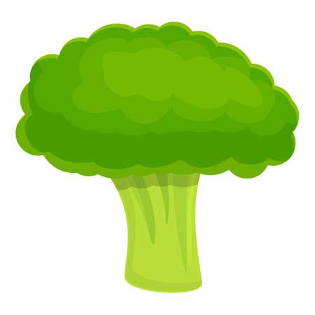 Whole broccoli icon, cartoon style Illusztráció