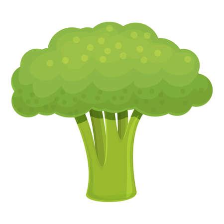 Nutrition broccoli icon, cartoon style