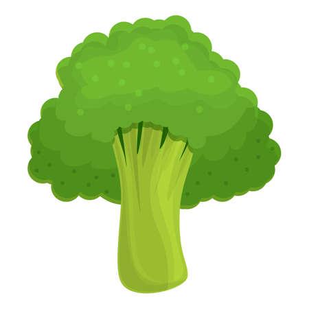 Cabbage broccoli icon, cartoon style