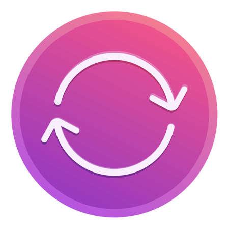 Repost arrow circle icon, cartoon style