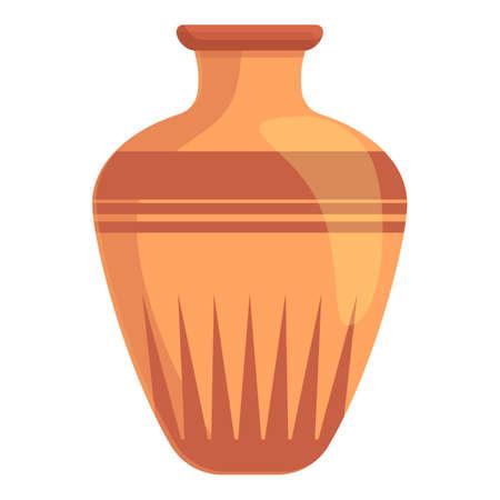 Amphora pottery icon, cartoon style Ilustración de vector