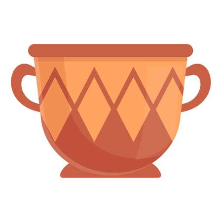 Amphora style icon, cartoon style
