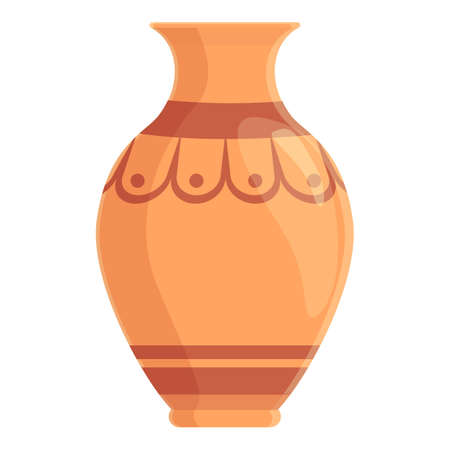 Amphora traditional icon, cartoon style