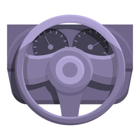 Car steering wheel board icon. Cartoon of Car steering wheel board vector icon for web design isolated on white background