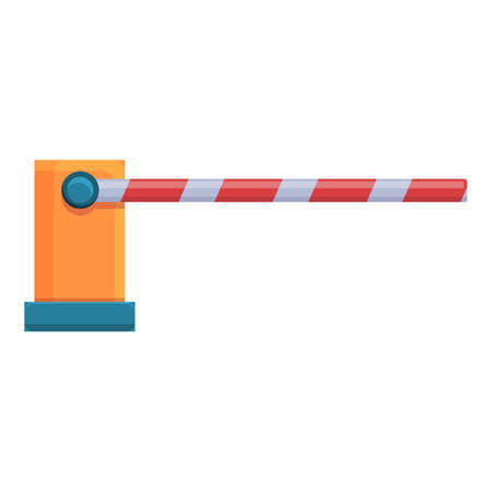 Railroad barrier element icon. Cartoon of Railroad barrier element vector icon for web design isolated on white background Ilustración de vector