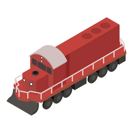 Diesel train icon. Isometric of Diesel train vector icon for web design isolated on white background