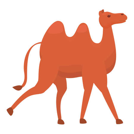 East camel icon. Cartoon of East camel vector icon for web design isolated on white background Vector Illustratie