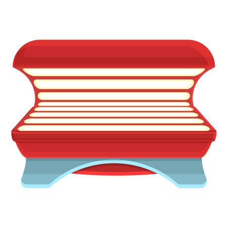 Solarium tan icon. Cartoon of Solarium tan vector icon for web design isolated on white background Ilustración de vector