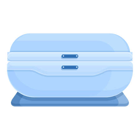 Solarium bed icon. Cartoon of Solarium bed vector icon for web design isolated on white background