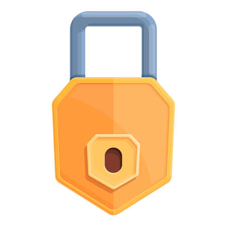 Defend password protection icon. Cartoon of Defend password protection vector icon for web design isolated on white background Ilustración de vector