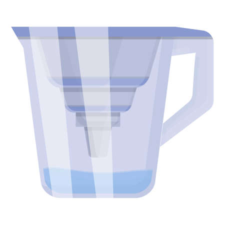 Jug water purification icon. Cartoon of Jug water purification vector icon for web design isolated on white background Ilustração