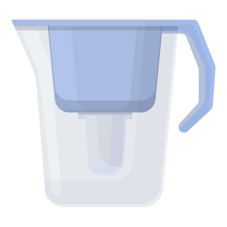 Water purification plastic jug icon. Cartoon of Water purification plastic jug vector icon for web design isolated on white background