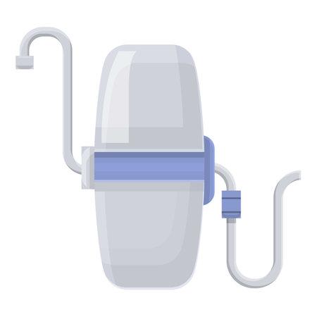 Family water purification icon. Cartoon of Family water purification vector icon for web design isolated on white background Ilustração