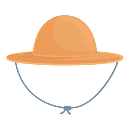 Hiking hat icon. Cartoon of Hiking hat vector icon for web design isolated on white background