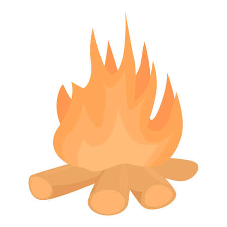 Hiking campfire icon. Cartoon of Hiking campfire vector icon for web design isolated on white background
