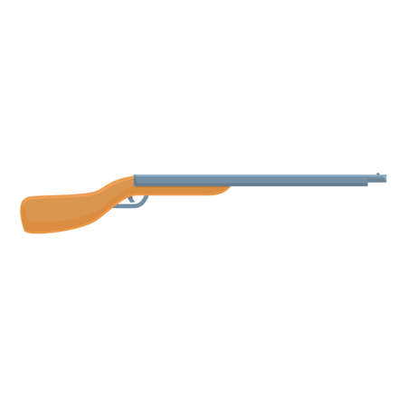 Hunting rifle icon. Cartoon of Hunting rifle vector icon for web design isolated on white background Ilustração