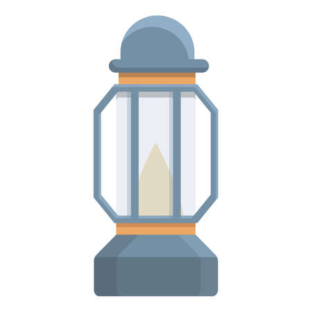 Kerosene lamp icon. Cartoon of Kerosene lamp vector icon for web design isolated on white background Ilustração