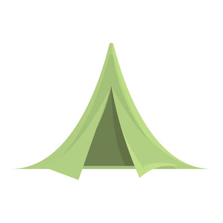 Hiking tent icon. Cartoon of Hiking tent vector icon for web design isolated on white background Ilustração
