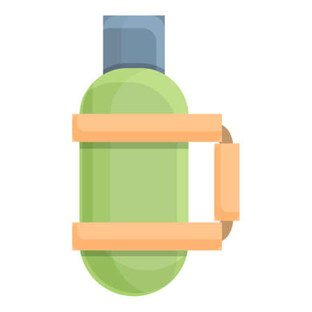 Hiking water bottle icon. Cartoon of Hiking water bottle vector icon for web design isolated on white background