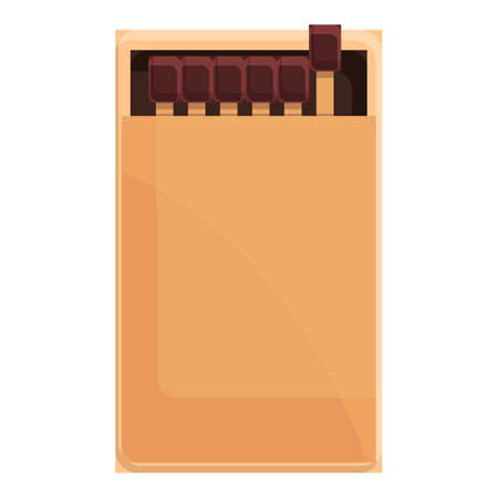 Matches box icon. Cartoon of Matches box vector icon for web design isolated on white background
