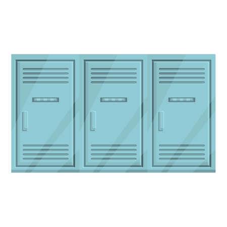 Deposit room locker icon. Cartoon of Deposit room locker vector icon for web design isolated on white background