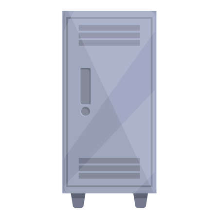 Deposit room steel icon. Cartoon of Deposit room steel vector icon for web design isolated on white background