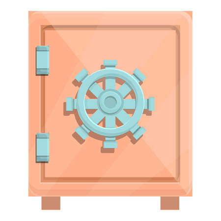 Deposit home safe icon. Cartoon of Deposit home safe vector icon for web design isolated on white background 矢量图像