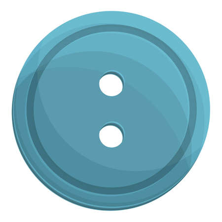 Sewing blue button icon. Cartoon of Sewing blue button vector icon for web design isolated on white background 矢量图像