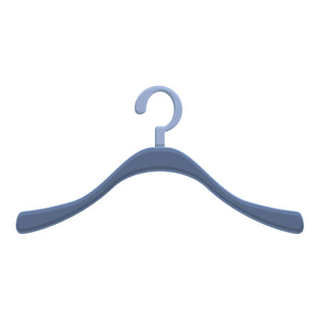 Clothes hanger icon. Cartoon of Clothes hanger vector icon for web design isolated on white background
