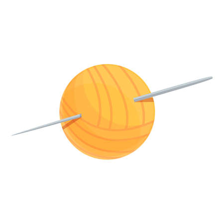 Thread ball icon. Cartoon of Thread ball vector icon for web design isolated on white background 矢量图像