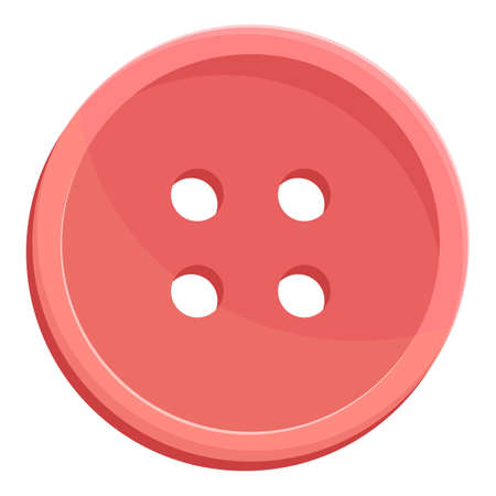 Red clothes button icon. Cartoon of Red clothes button vector icon for web design isolated on white background 矢量图像