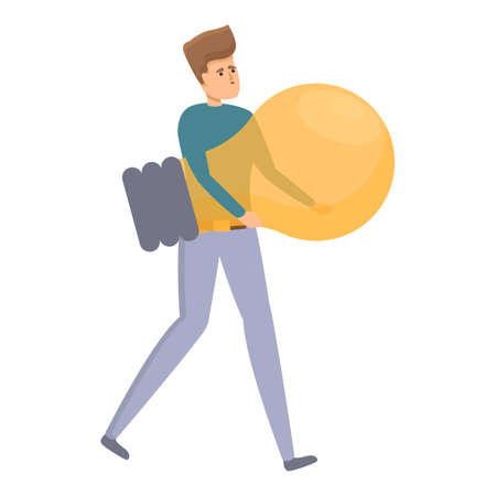Big idea brainstorming icon. Cartoon of Big idea brainstorming vector icon for web design isolated on white background