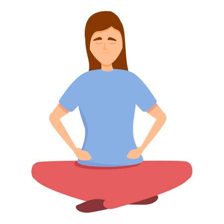 Meditation brainstorming icon. Cartoon of Meditation brainstorming vector icon for web design isolated on white background 矢量图像