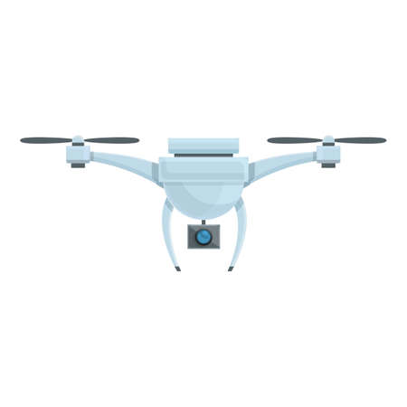 Drone camera icon. Cartoon of Drone camera vector icon for web design isolated on white background