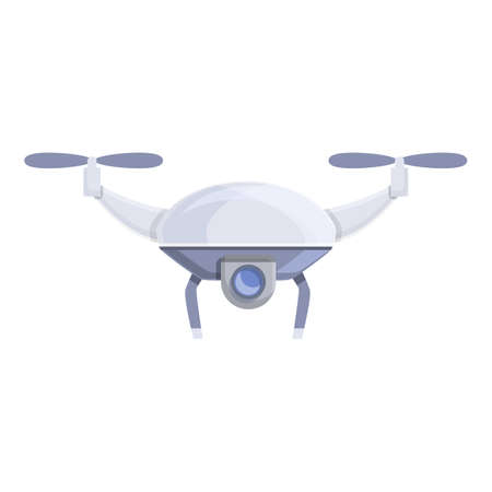 Drone vr camera icon. Cartoon of Drone vr camera vector icon for web design isolated on white background