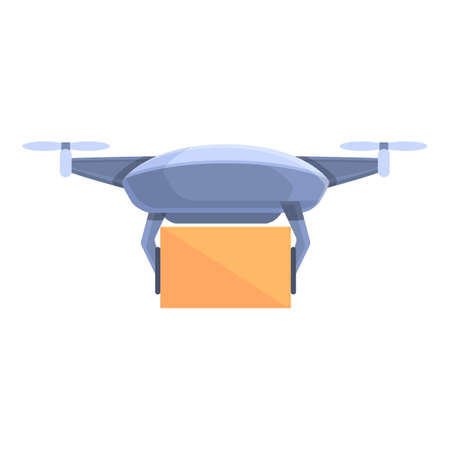 Drone technology toy icon. Cartoon of Drone technology toy vector icon for web design isolated on white background
