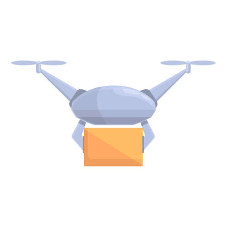 Drone technology robot icon. Cartoon of Drone technology robot vector icon for web design isolated on white background