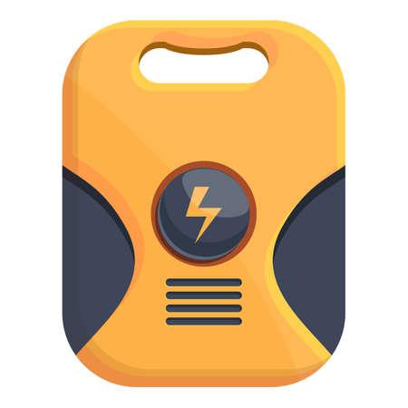 Device defibrillator icon. Cartoon of Device defibrillator vector icon for web design isolated on white background Ilustración de vector