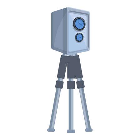 Speed radar equipment icon. Cartoon of Speed radar equipment vector icon for web design isolated on white background