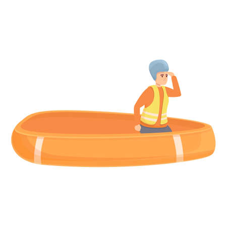 Sea evacuation icon. Cartoon of Sea evacuation vector icon for web design isolated on white background
