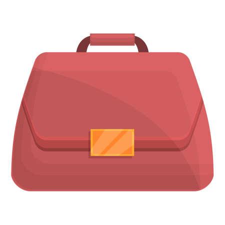Woman travel bag icon. Cartoon of Woman travel bag vector icon for web design isolated on white background Ilustración de vector